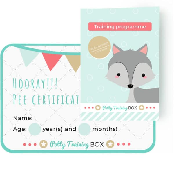 Potty Training Box - Programma and pee certificate