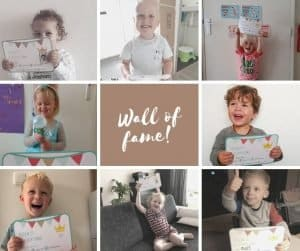 Potty Training Box - Wall of fame